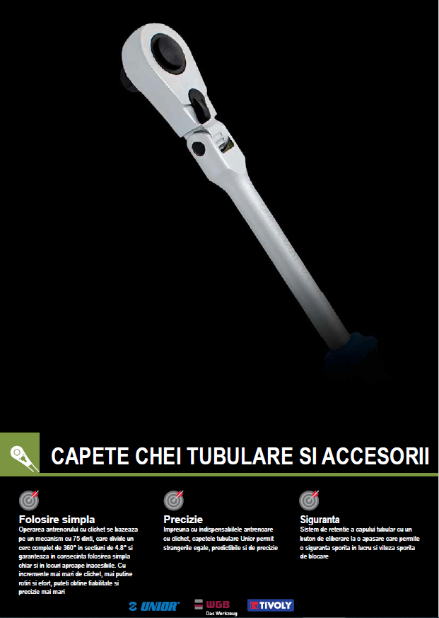 Catalog NOU- Capete chei tubulare si accesorii