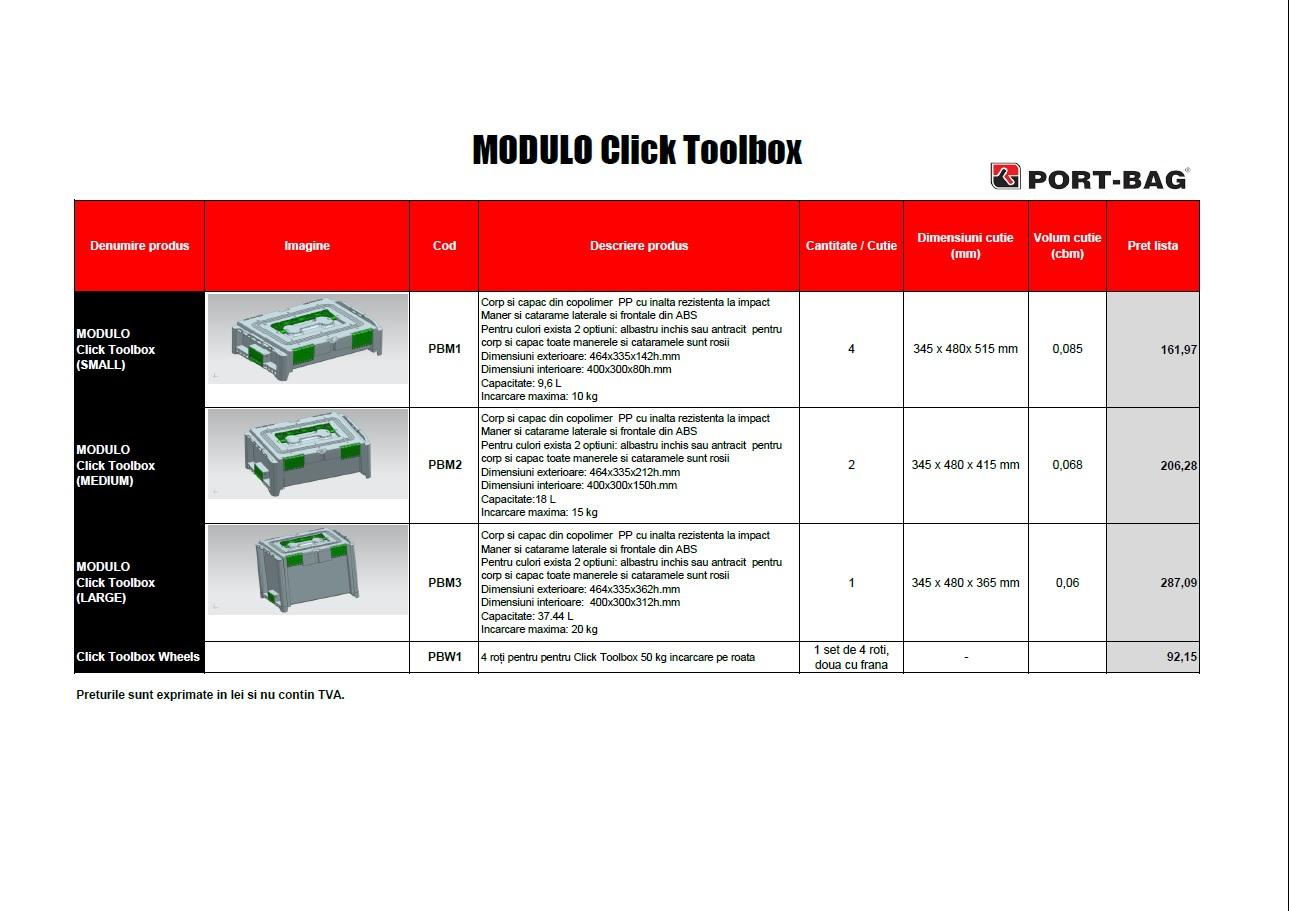 PORT-BAG - MODULO Click Toolbox