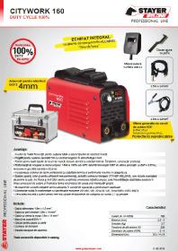 Stayer - Invertor de sudura 160 A Duty Cycle 100%