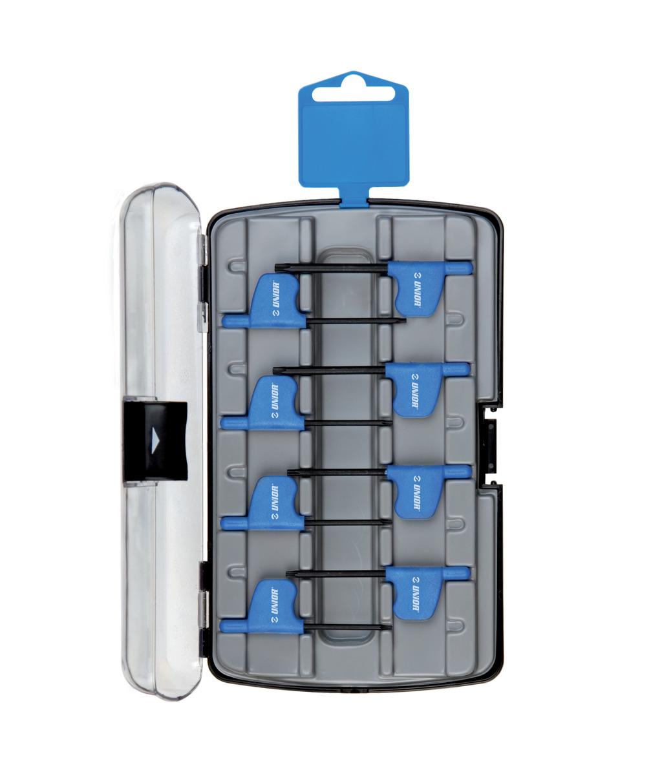 Set de chei locas hexagonal cu profil TXP cu maner in cutie de plastic 8piese UNIOR